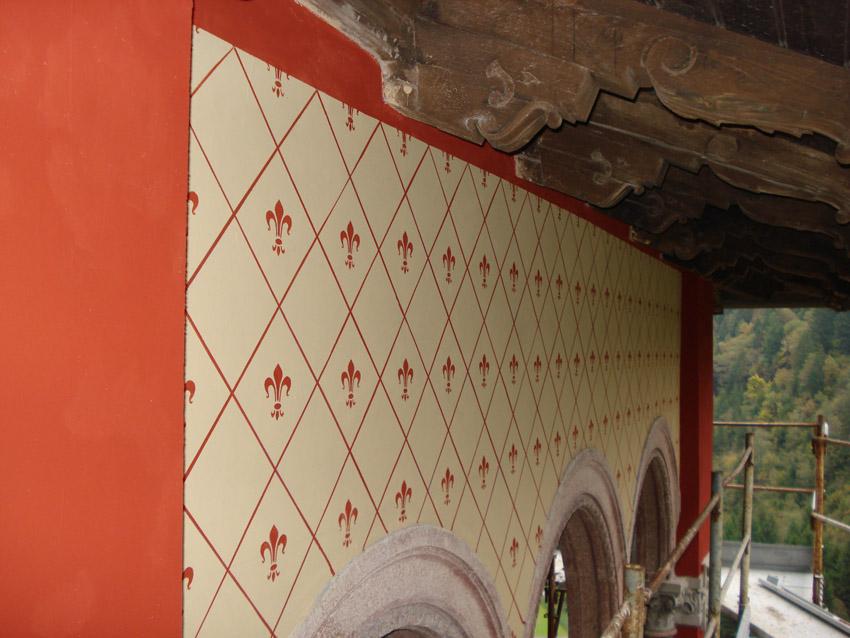Villa privata – decorazione esterna con pannelli a graffito – Gromo (Bg)
